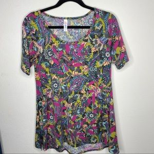 🦋3/$18 Lularoe Perfect T Floral Size XS